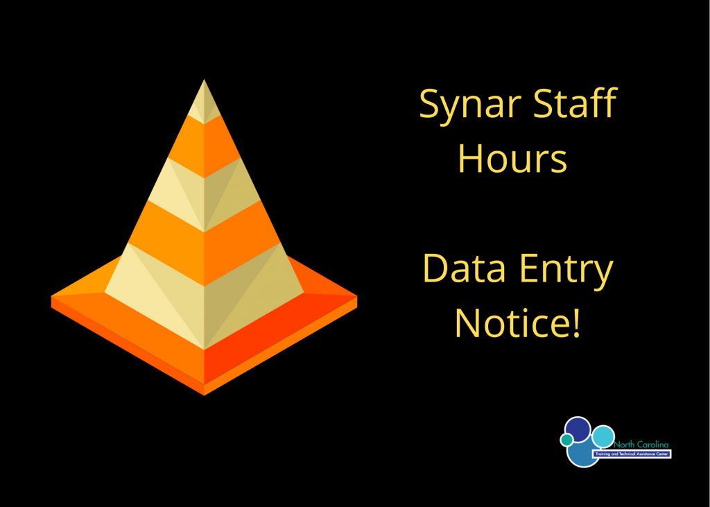Synar Staff Hours Data Entry Notice!